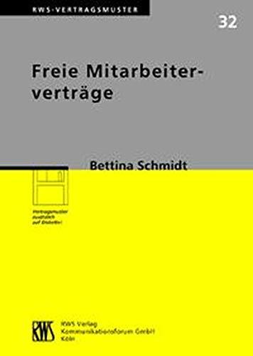 Freie Mitarbeiterverträge: Bettina Schmidt