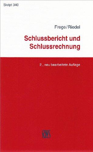 9783814593401: Schlussbericht und Schlussrechnung: Im Insolvenzverfahren
