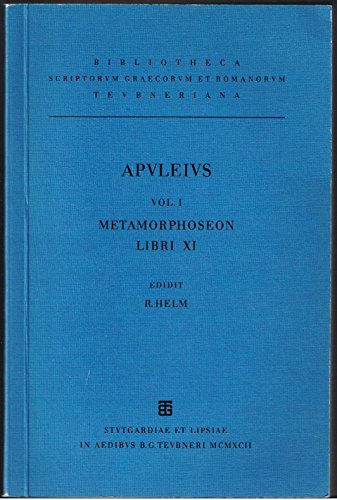 9783815410554: Apulei Platonici Madaurensis opera quae supersunt: Vol. I. Metamorphoseon libri XI (German Edition)
