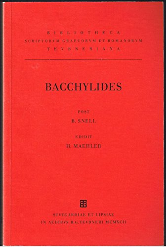 Bachhylides: B. Snell and