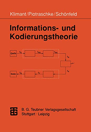 Informations- und Kodierungstheorie. Technische Universität Dresden, Fakultät: Klimant, Herbert, Piotraschke,