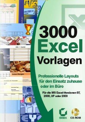 9783815564035: 3000 Excel-Vorlagen [import allemand]