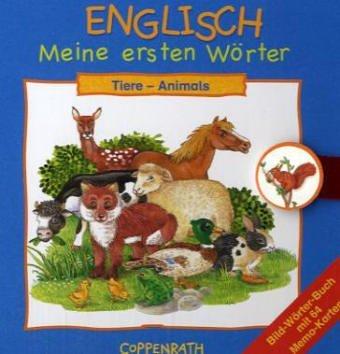 9783815738627: Englisch: Meine ersten Wörter: Tiere: Bild-Wörterbuch mit 64 Memo-Karten
