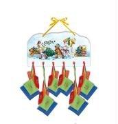 9783815789810: Die Lieben Sieben - Holzkalender mit 24 Filzsäckchen