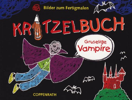 9783815796504: Kritzelbuch - Gruselige Vampire: Bilder zum Fertigmalen (Verkaufseinheit)