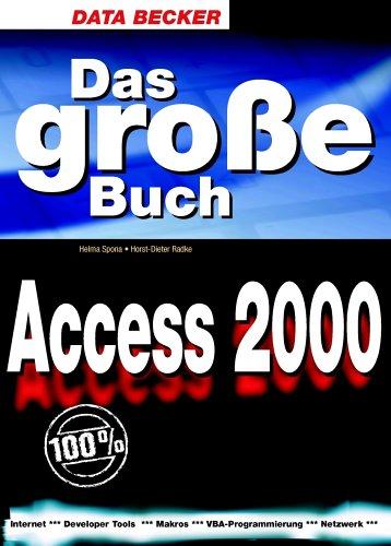 9783815813263: Das groáe Buch Access 2000, m. CD-ROM