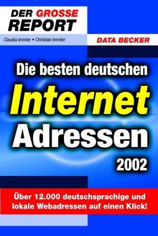 9783815816622: Beste deutsche Internet- Adressen 2002. Der große Report.