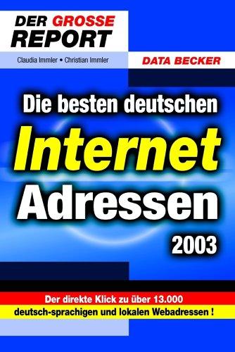 9783815816745: Die besten deutschen Internet-Adressen 2003