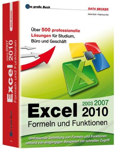 9783815830543: Excel 2010 Formeln und Funktionen