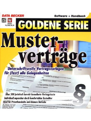9783815880418: Mustervertr�ge [import allemand]