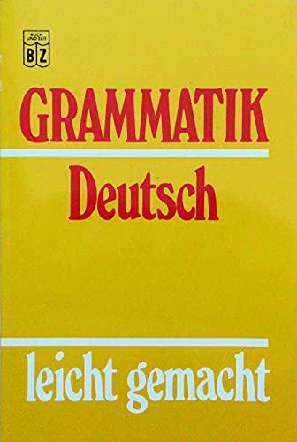 9783816600107: Grammatik Deutsch leicht gemacht