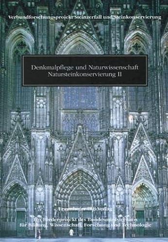 9783816746928: Denkmalpflege und Naturwissenschaft, Natursteinkonservierung