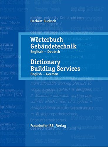 Dictionary Building Services: English - German Vol. 1: Dictionary Building Services 1 English - ...