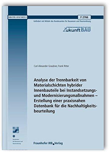 Analyse der Trennbarkeit von Materialschichten hybrider Innenbauteile bei Instandsetzungs- und ...