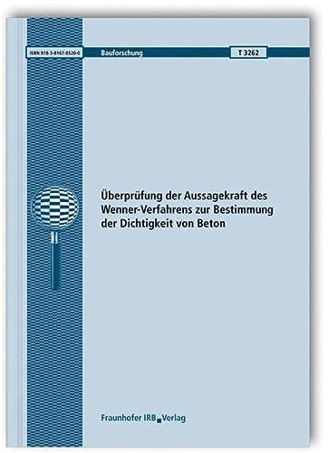 Überprüfung der Aussagekraft des Wenner-Verfahrens zur Bestimmung: Wolfgang Brameshuber; Anya