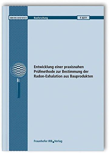 9783816787235: Entwicklung einer praxisnahen Prüfmethode zur Bestimmung der Radon-Exhalation aus Bauprodukten