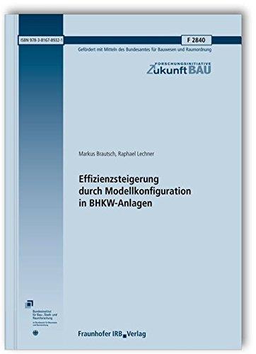 9783816789321: Effizienzsteigerung durch Modellkonfiguration in BHKW-Anlagen. Abschlussbericht