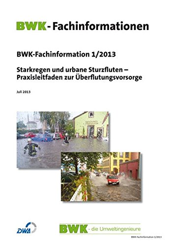 9783816790563: BWK-Fachinformation 1/2013: Starkregen und urbane Sturzfluten - Praxisleitfaden zur Überflutungsvorsorge
