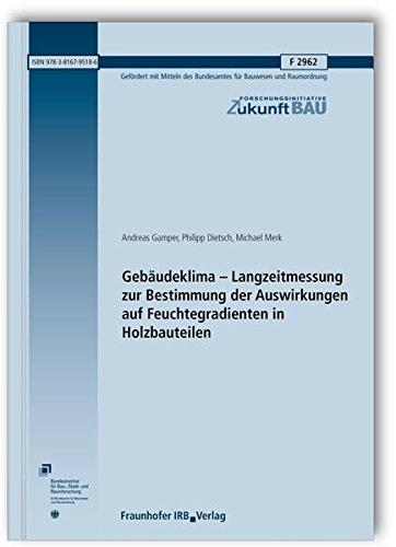 Gebäudeklima - Langzeitmessung zur Bestimmung der Auswirkungen auf Feuchtegradienten in ...
