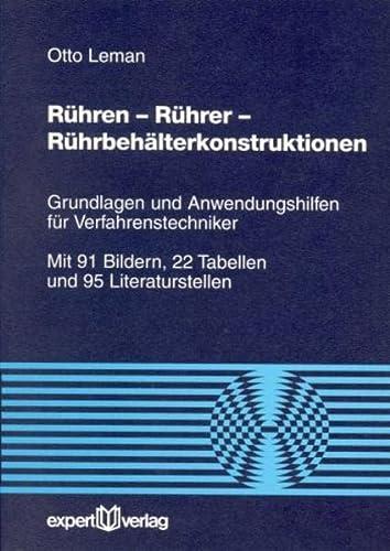 9783816915263: Rühren, Rührer, Rührbehälterkonstruktion.