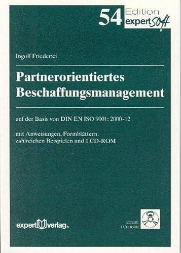 Partnerorientiertes Beschaffungsmanagement: Ingolf Friederici