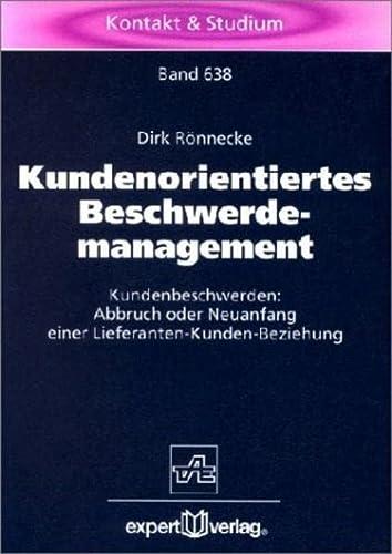 9783816921318: Kundenorientiertes Beschwerdemanagement.