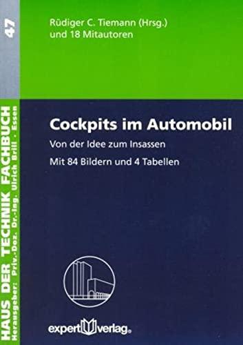 9783816924968: Cockpits im Automobil: Von der Idee zum Insassen