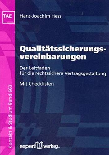 9783816925187: Qualitätssicherungsvereinbarungen: Der Leitfaden für die rechtssichere Vertragsgestaltung