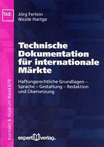 9783816925804: Technische Dokumentation f�r internationale M�rkte