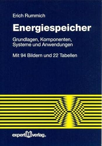 9783816927365: Energiespeicher: Grundlagen - Komponenten - Systeme und Anwendungen