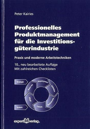 9783816931676: Professionelles Produktmanagement für die Investitionsgüterindustrie