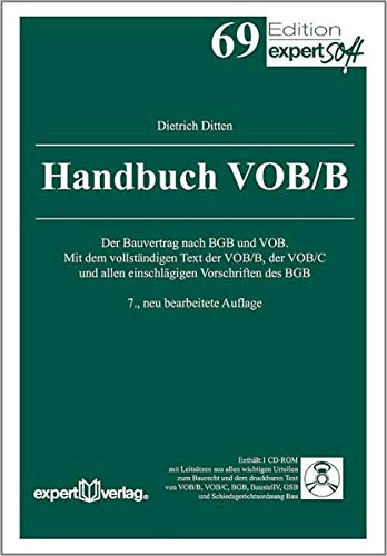 Handbuch VOB/B, m. CD-ROM: Dietrich Ditten