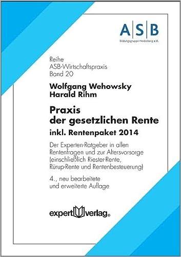 Praxis der gesetzlichen Rente: Wolfgang Wehowsky