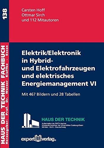 9783816933113: Elektrik/Elektronik in Hybrid- und Elektrofahrzeugen und elektrisches Energiemanagement, VI