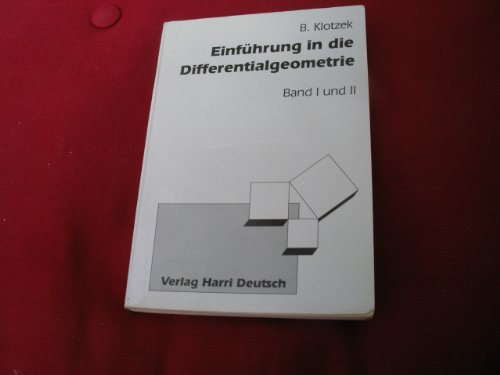 9783817114511: Einführung in die Differentialgeometrie