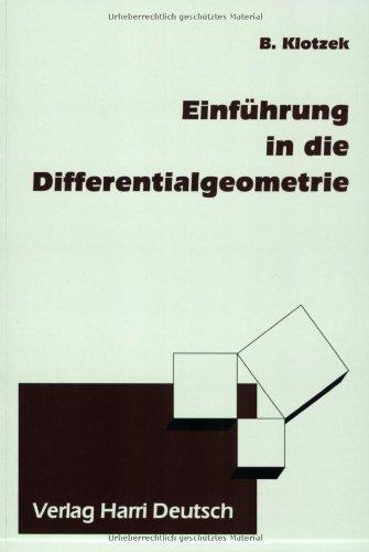 9783817115495: Einführung in die Differentialgeometrie