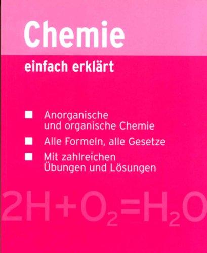 9783817463206: Chemie einfach erkl�rt - Sonderausgabe