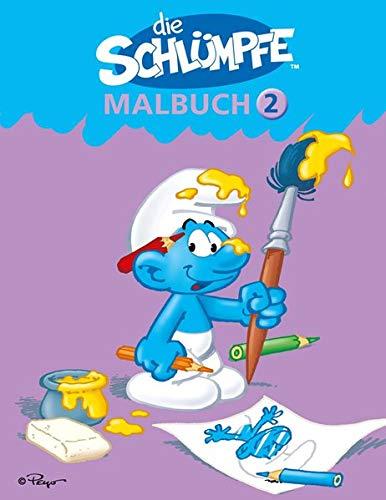 9783817485819: Die Schl�mpfe - Malbuch 2: Schlumpfiger Malspa� f�r Kinder ab 4 Jahren