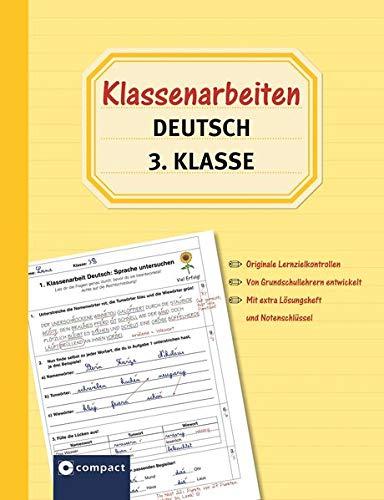 9783817495641: Klassenarbeiten Deutsch 3. Klasse: Originale Lernzielkontrollen von Grundschullehrern entwickelt