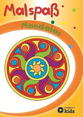 9783817495672: Gelber Malspaß Mandalas: Mandala-Malblock für Kinder ab 4 Jahren