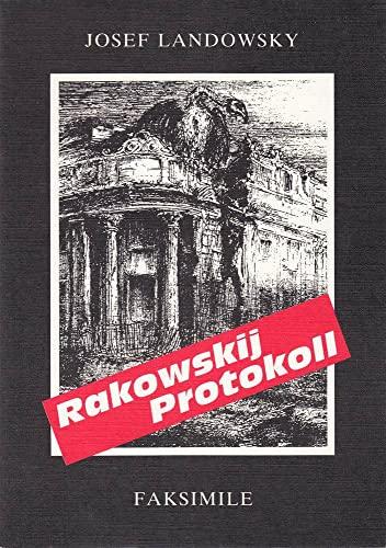 Rakowskij Protokoll - Faksimile: josef landowsky