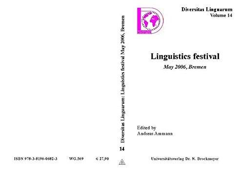 9783819606823: Linguistics festival. May 2006, Bremen