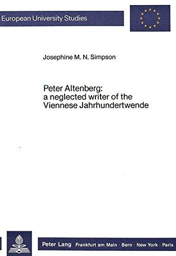 Peter Altenberg: Josephine M.N. Simpson