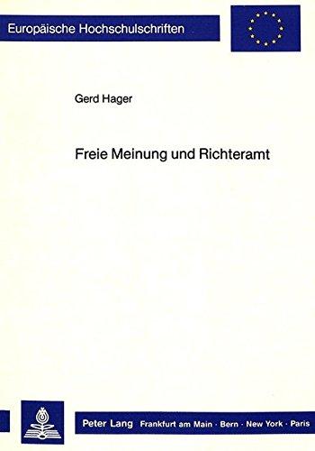 Freie Meinung und Richteramt: Hager, Gerd