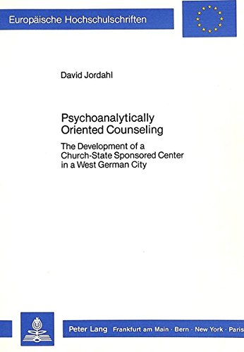 Psychoanalytically Oriented Counseling: Jordahl, David