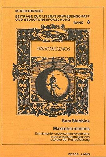 Maxima in Minimis: Sara Stebbins