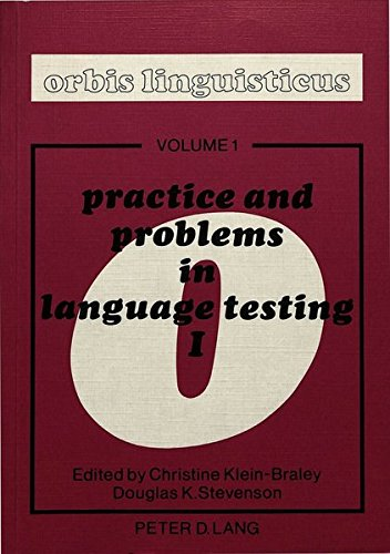 Practice and Problems in Language Testing 1: