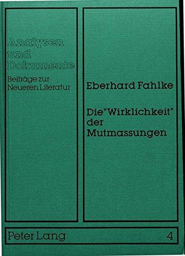 Die 'Wirklichkeit' der Mutmassungen: Eberhard Fahlke