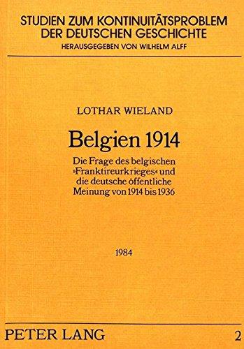 Belgien 1914: Lothar Wieland