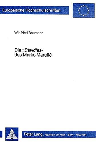 Die Davidias des Marko Marulic